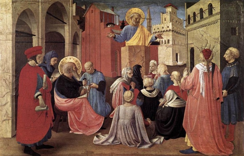 St. Peter Preaching in the Presence of St. Mark